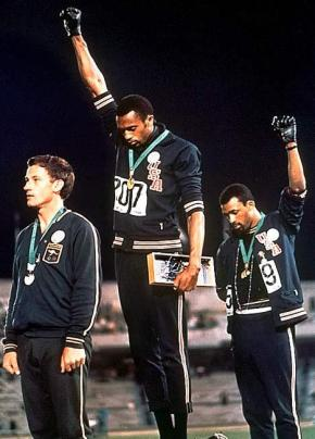 Black Power Salute at Olympics (no copyright infringement intended)